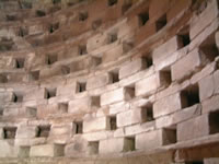 Inside Garway dovecote