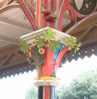 Ironwork sample at train station