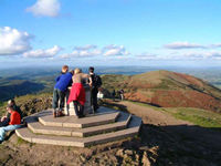Worcestershire Beacon, facing north, Oct 01